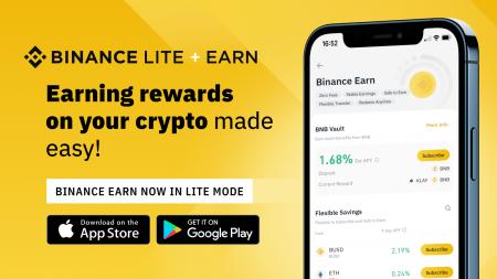 Binance Earn on Binance Lite: Get More Crypto Easily