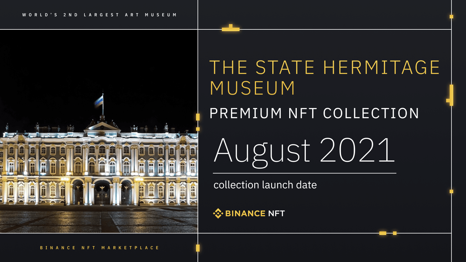 Binance NFT marketplace to feature tokenized art, including Leonardo da Vinci, from The State Hermitage Museum
