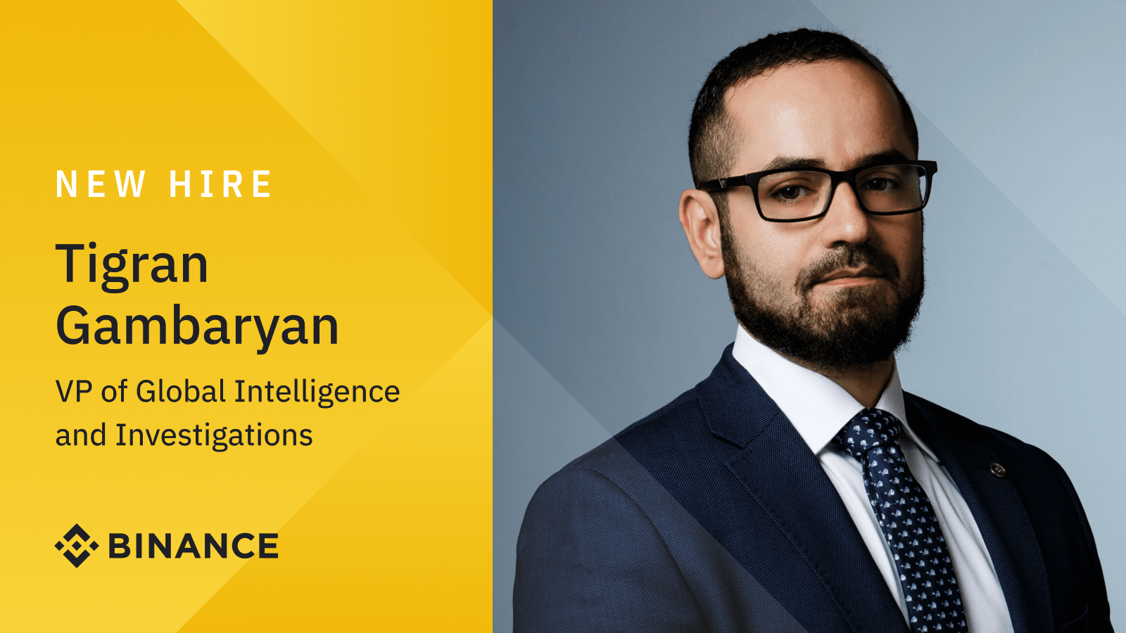 Former IRS-CI Special Agent Tigran Gambaryan joins Binance as VP of Global Intelligence and Investigations