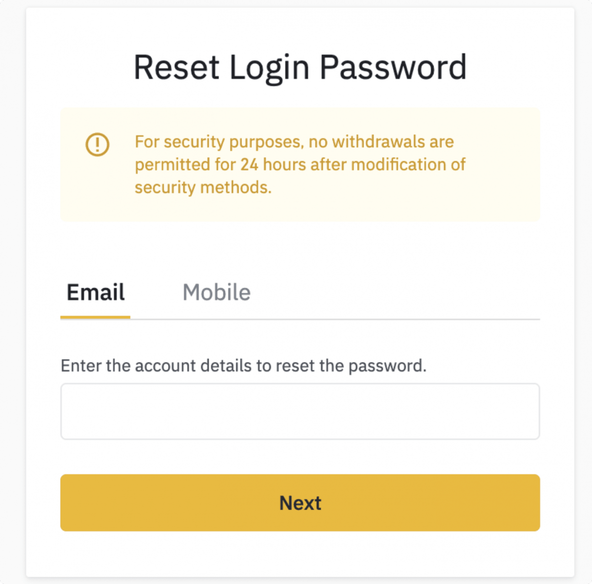 How to Login and Deposit Money in Binance