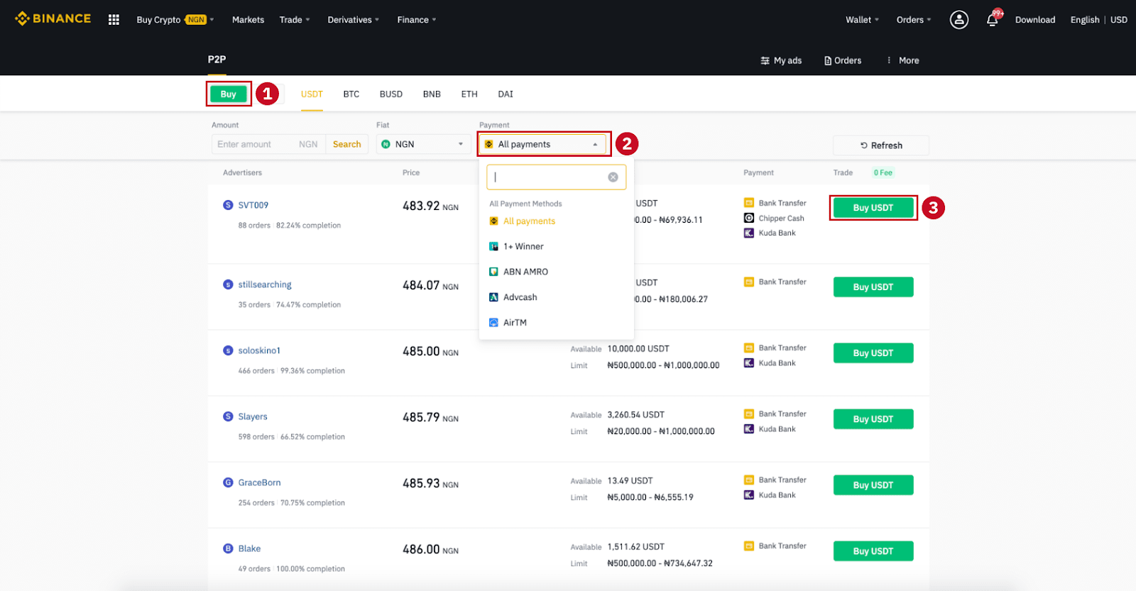 How to Open Account and Deposit at Binance