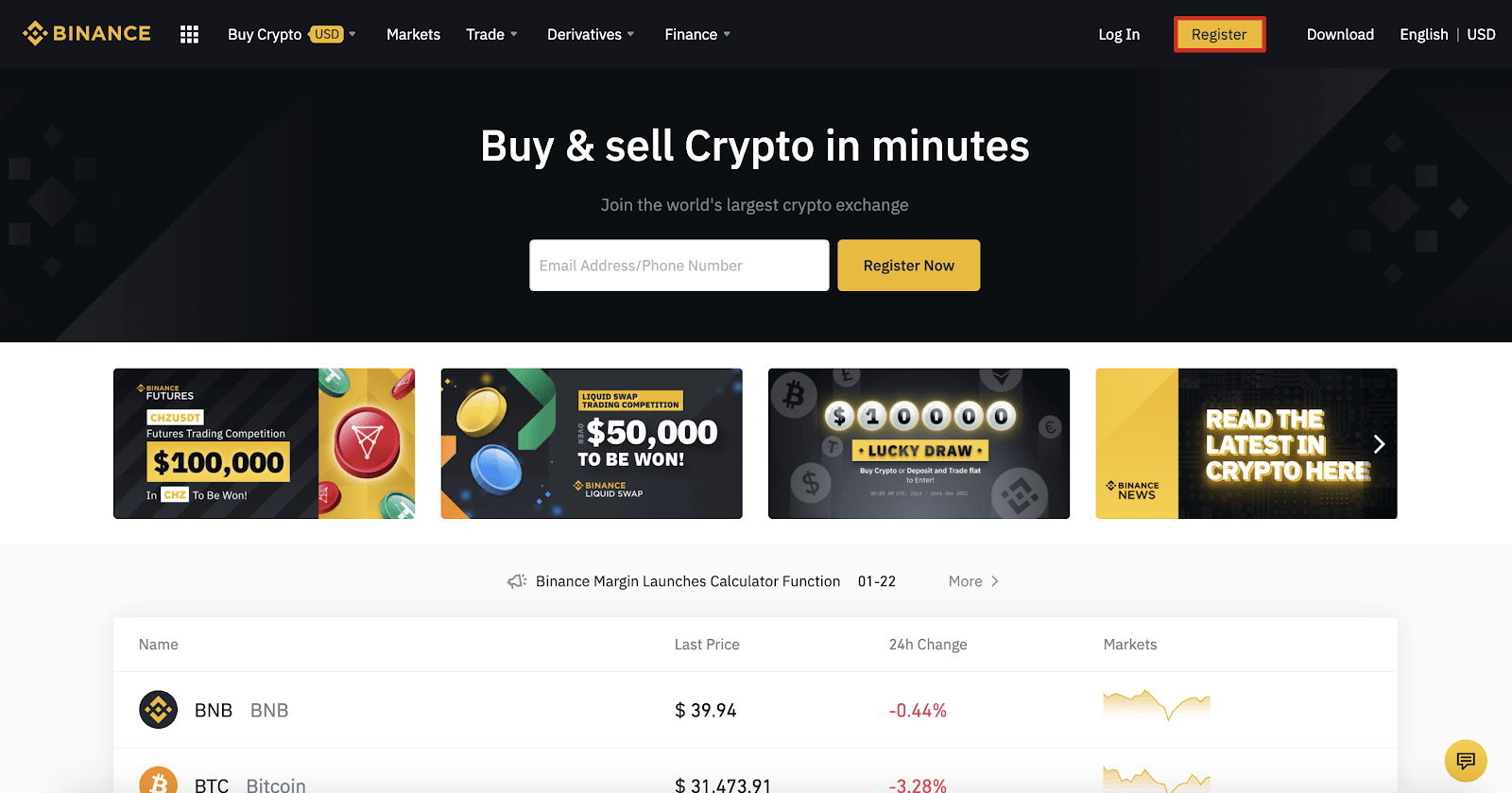 How to Sign Up and Deposit at Binance