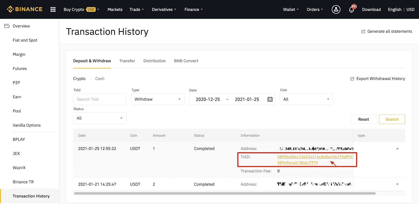 How to Withdraw and Make a Deposit in Binance